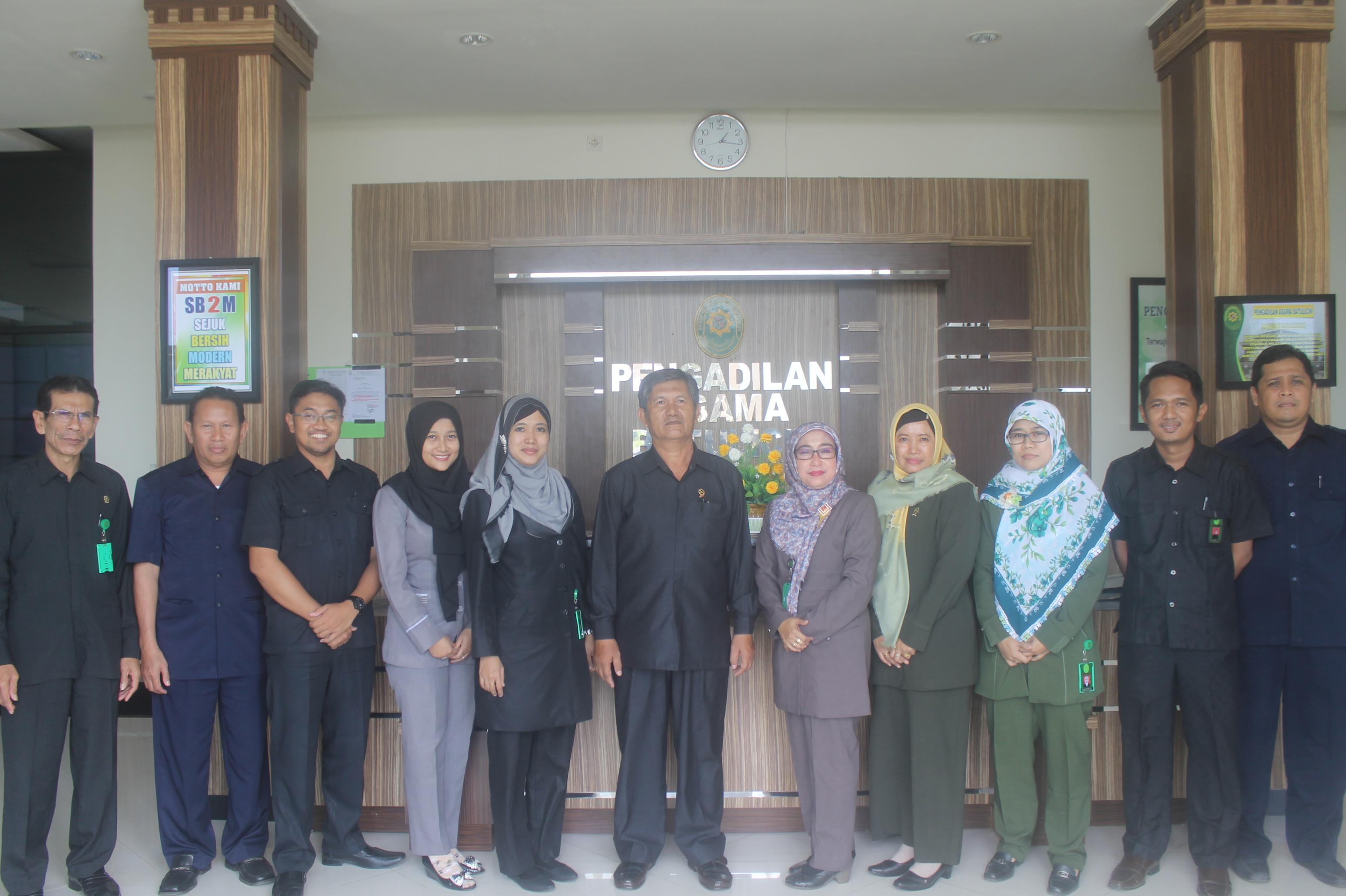 Kunjungan Tim Monitoring Pengadilan Tinggi Agama Banjarmasin